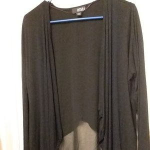A.n.a Black Layered Light Cardigan size Petite L